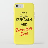 better call saul iPhone & iPod Cases featuring Better Call Saul by DeBUM