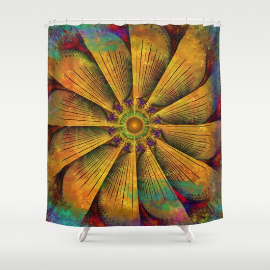 Mandala - Antiqued Shower Curtain