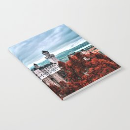 The Castle of Mad King Ludwig in the Autumn, Neuschwanstein Castle, Bavaria, Germany Notebook