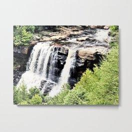 West Virginia Blackwater Falls Metal Print