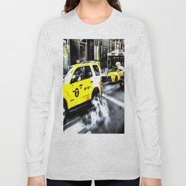 New York Taxis Art Long Sleeve T-shirt