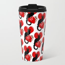 Le Chat Noir with Chocolate Candy Gift Travel Mug