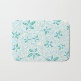 Sea Blue Lily Flower Bath Mat