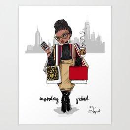 Monday Grind Art Print