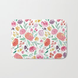 Peony Roses and Floral blooms Bath Mat