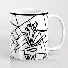 Flowers on the window -coloring Coffee Mug