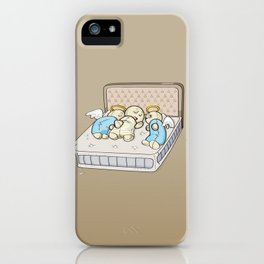 Sleep with angels iPhone Case
