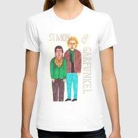 T-shirts featuring Simon & Garfunkel by Angela Dalinger