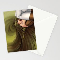 Time Antigrav - green Stationery Cards