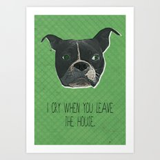 Boston Terrier Print Art Print