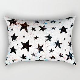 Hand painted black pink teal aqua watercolor galaxy stars Rectangular Pillow