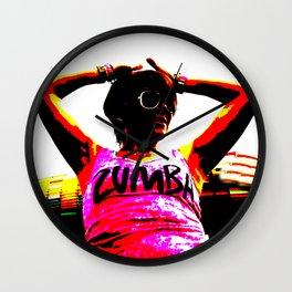 Zumba dancer dancing Wall Clock