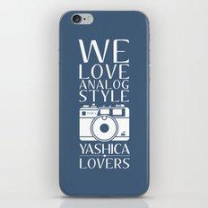 """We Love Analog"" iPhone & iPod Skin"