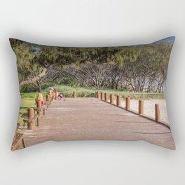 Beachside Boardwalk Rectangular Pillow