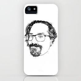Portrait of my husband iPhone Case