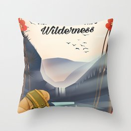 Go Hiking - Visit mother Nature's Wilderness. Throw Pillow