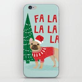 French Bulldog Christmas festive holiday sweater christmas card for dog lover french bulldog iPhone Skin