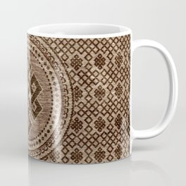 Endless Knot Decorative on Wooden Surface Coffee Mug