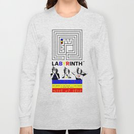 SSHNE LABYRINTH: ASL ,MORSE, BRAILLE on BANNERS Long Sleeve T-shirt