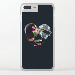 Digital Love Clear iPhone Case