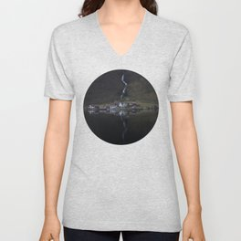 River that vanishes (Fjord) Unisex V-Neck