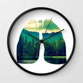 Lung Forest Fresh Wall Clock