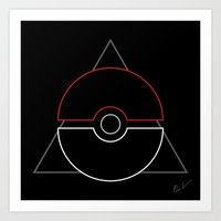 pokeball Art Prints featuring pokeball by Winter Graphics