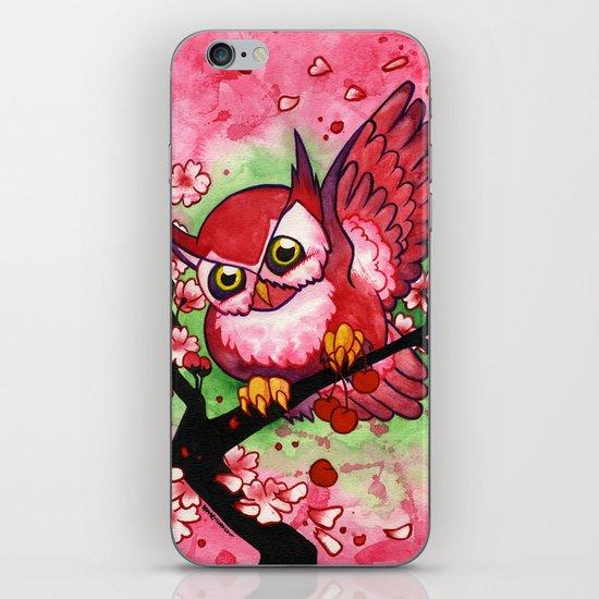 Cherry Owl iPhone & iPod Skin