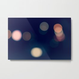 Lights Blue Metal Print