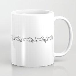 Dachshunds for Life - Black/White Coffee Mug