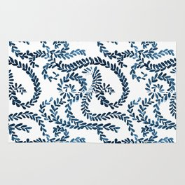 Mexican Talavera inspired pattern Rug