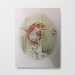 Jeremy Fisher by Beatrix Potter Metal Print