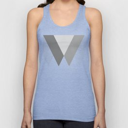Sawtooth Inverted Blue Grey Unisex Tank Top