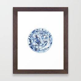 CHINOISERIE PLATE Framed Art Print