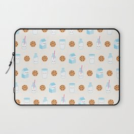 Milk and Cookies Pattern on Cream Laptop Sleeve