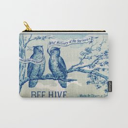 Vintage owl talk Carry-All Pouch