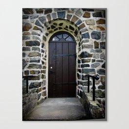 Church Door - Raelingen, Norway Canvas Print