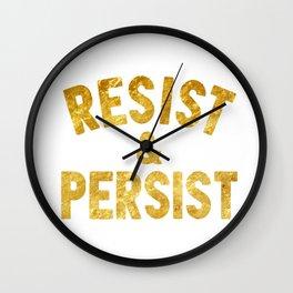 resist & persist Wall Clock