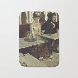 In a café (or  L'Absinthe) Bath Mat