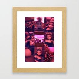 CHUN-LI COLLAGE Framed Art Print