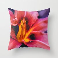 lily Throw Pillows featuring  Lily. by Mary Berg