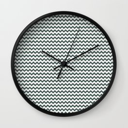 Night Watch PPG1145-7 Chevron Zigzag Horizontal Lines Delicate White PPG1001-1 Wall Clock