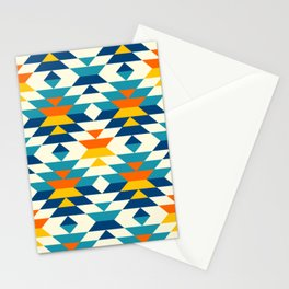 Bohemian large aztec diamonds blue pattern Stationery Cards