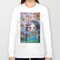 hippie Long Sleeve T-shirts featuring Hippie Circus by Dulcamara