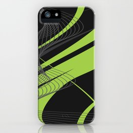 Green Black Abstract Future Technical iPhone Case