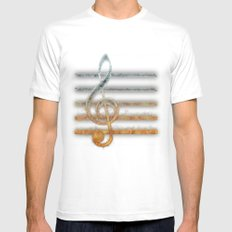 A Song of... MEDIUM White Mens Fitted Tee