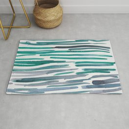 31   |  190408 Blue Abstract Watercolour Rug