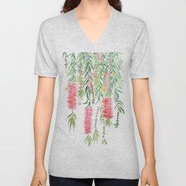 bottle brush tree flower Unisex V-Neck