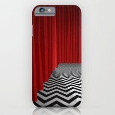 Twin Peaks Black Lodge with Chevron Floor and Red Curtains  iPhone 6s Slim Case
