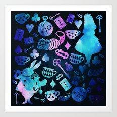 Alice in Wonderland - Galaxy Art Print